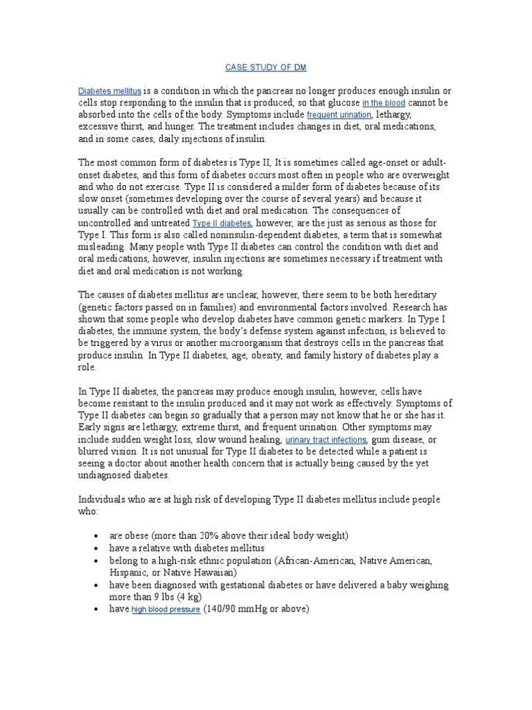 Diabetes Mellitus Type 2 Case Study Scribd