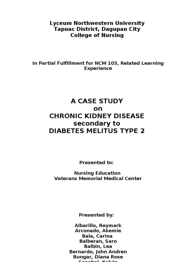 Diabetes Mellitus Type 2 Case Study Scribd