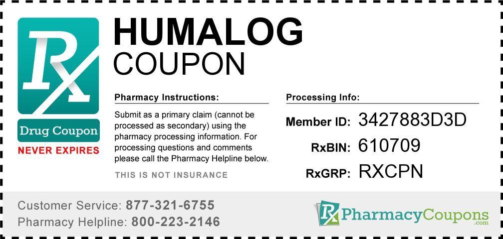 5 Pack Humalog Kwikpen Insulin Coupon