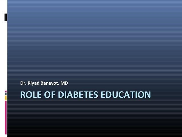 Role Of Diabetes Educator Ppt