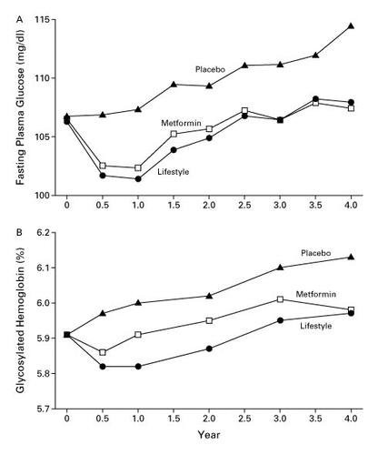 Reduction In The Incidence Of Type 2 Diabetes With Lifestyle Intervention Or Metformin