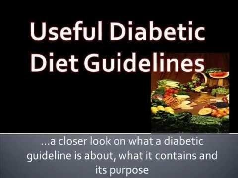 Diabetic Diet Guidelines