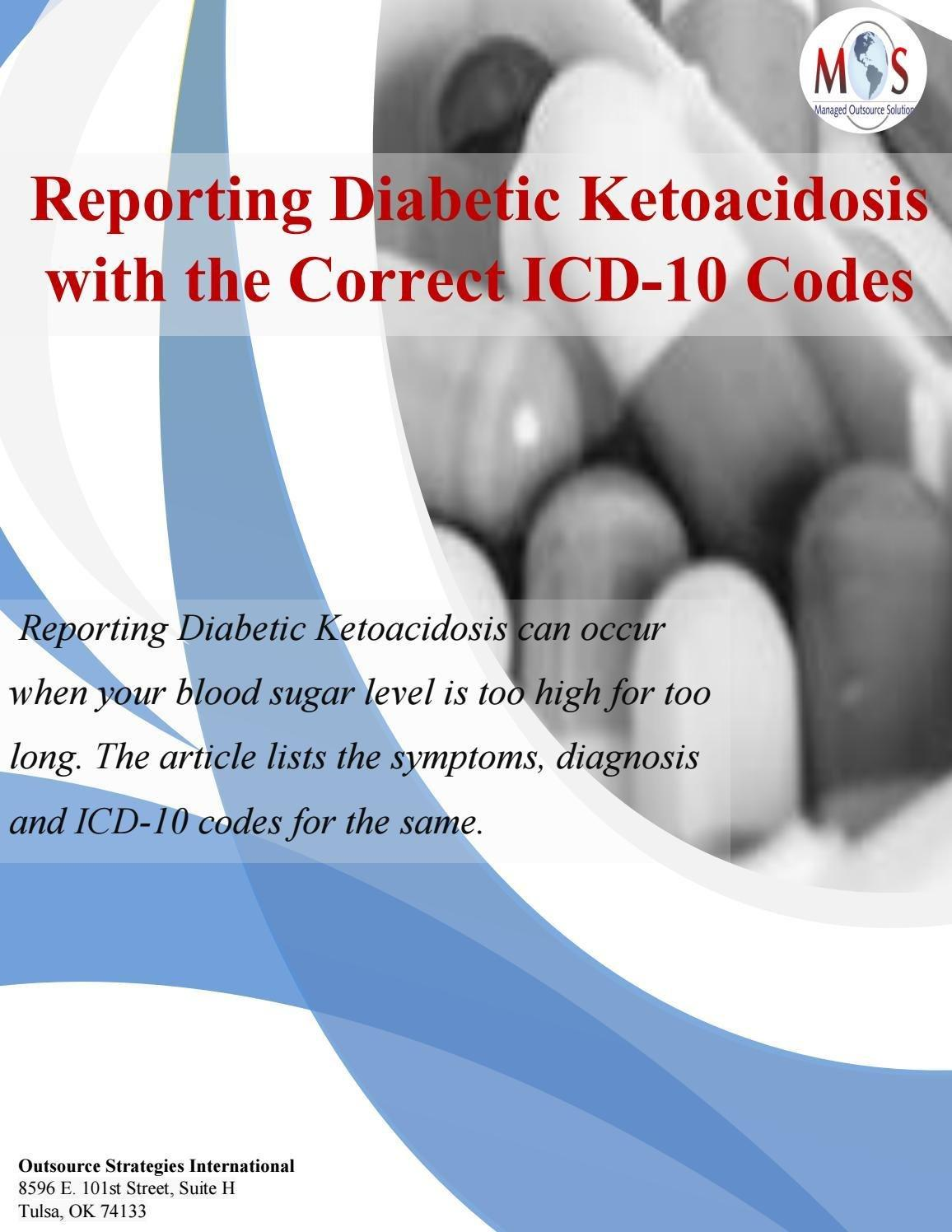 Reporting Diabetic Ketoacidosis With The Correct Icd-10 Codes