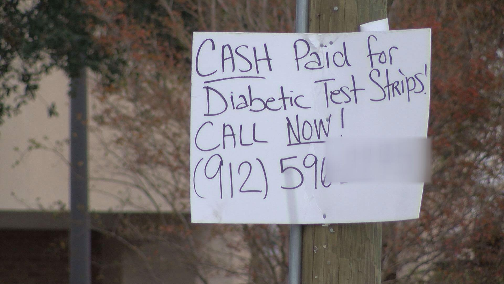 Signs Offering Cash For Unused Diabetic Strips - Wtvm.com-columbus, Ga News Weather & Sports