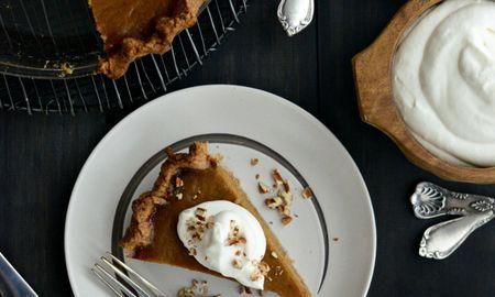 Pumpkin Pie With Maple Syrup And Evaporated Milk