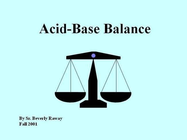 Acid-base Balance(acidosis And Alkalosis)