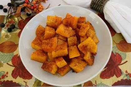 The Diabetic Skillet | Spiced Roasted Butternut Squash
