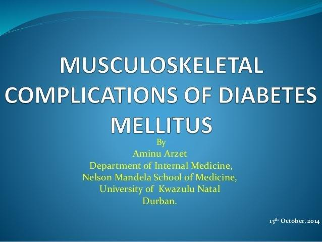 How Does Diabetes Affect The Musculoskeletal System