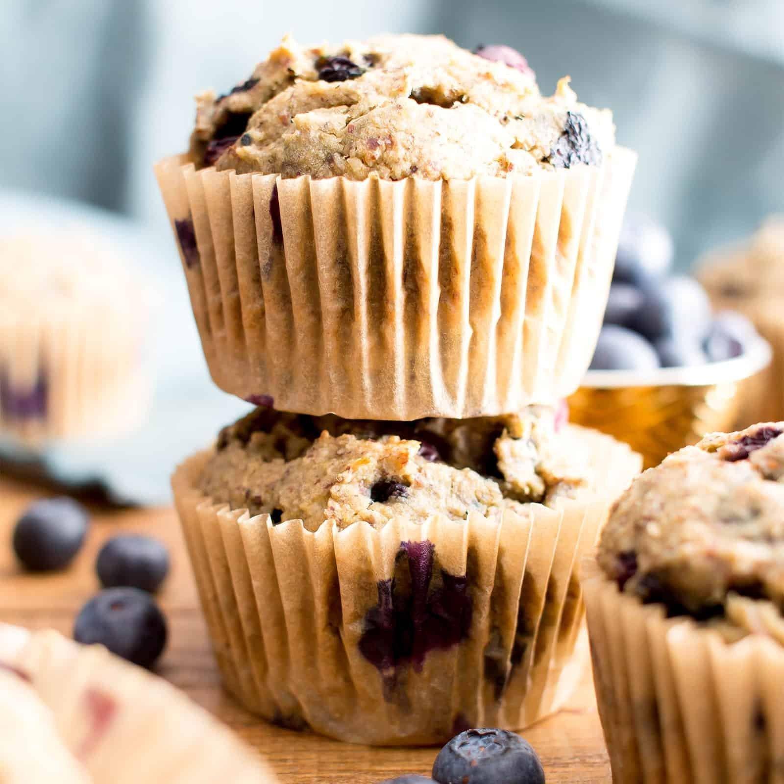 Healthy Banana Blueberry Muffins Recipe (gluten-free, Vegan, Dairy-free, Refined Sugar-free)
