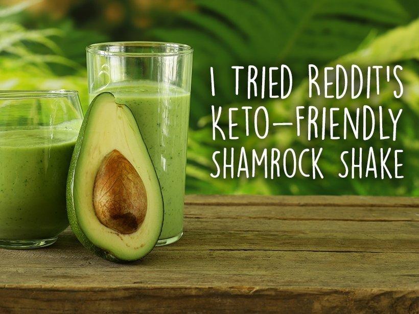 I Tried Reddit's Keto-friendly Shamrock Shake