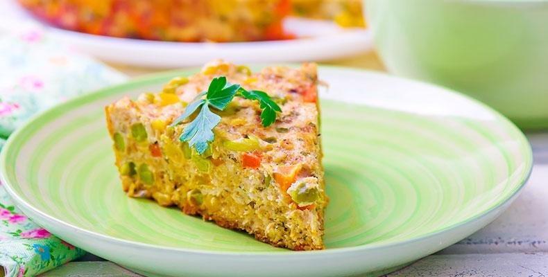 Pastel De Pollo Y Verduras Para Diabticos