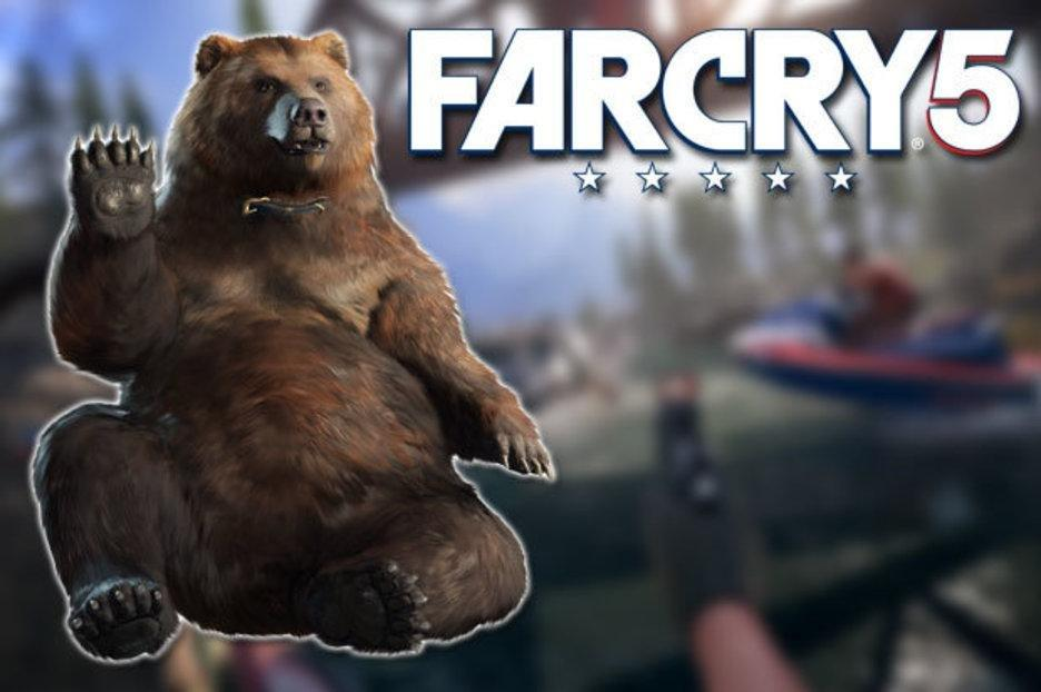 Far Cry 5 Adds A Diabetic Bear Named Cheeseburger To Its Long List Of Co-op Characters
