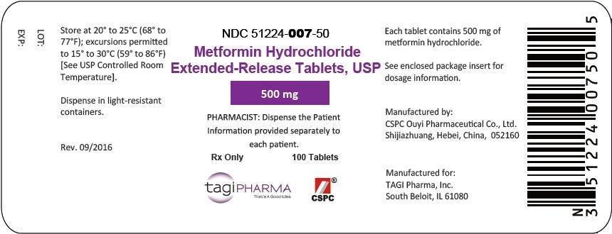Metformin Hydrochloride - Tagi Pharma, Inc.