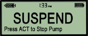 Suspending & Resuming Your Pump