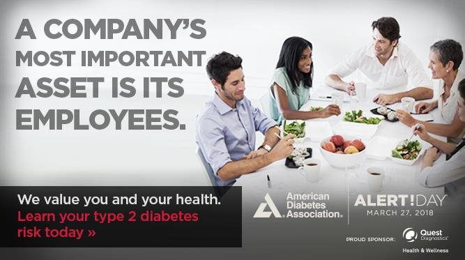 Diabetes Alert Day Is March 27: Help Your Employees Know Their Type 2 Diabetes Risk - Quest Diagnostics Health & Wellness