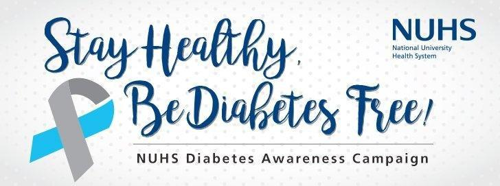 Stay Healthy, Be Diabetes Free!