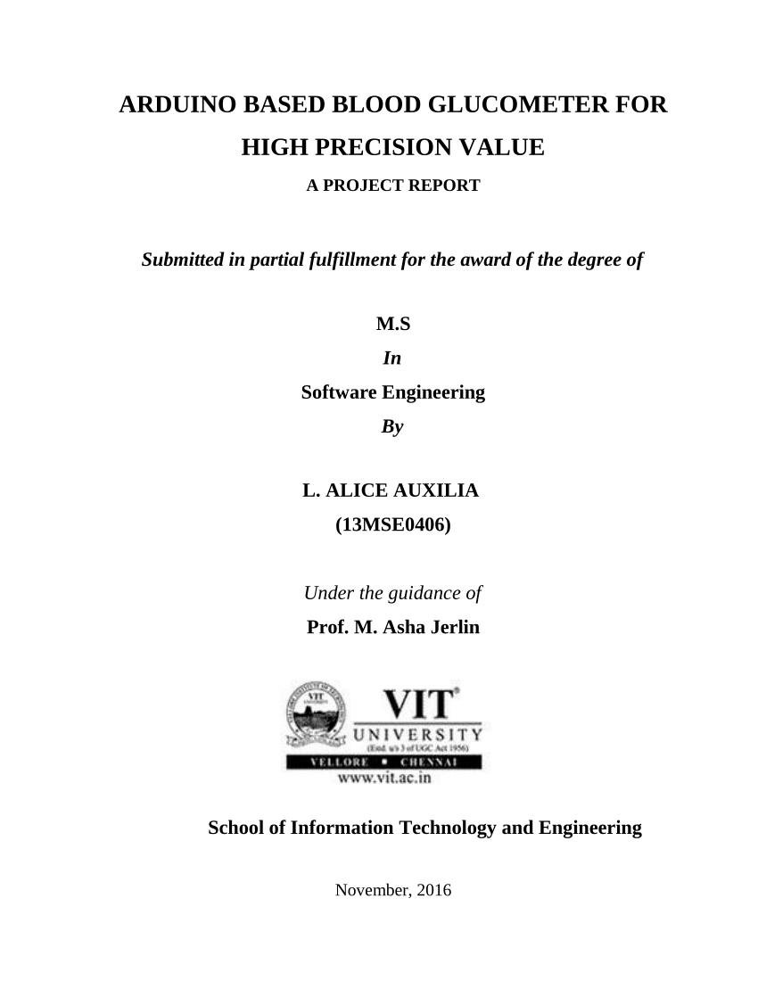 (pdf) Arduino Based Blood Glucometer For High Precision Value