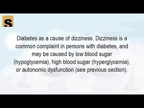Dizziness And Diabetes