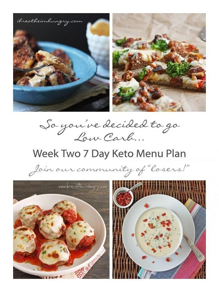 Week Two Keto (low Carb) 7 Day Meal Plan And Progress