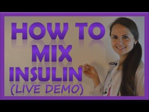 How To Mix Insulin Clear To Cloudy