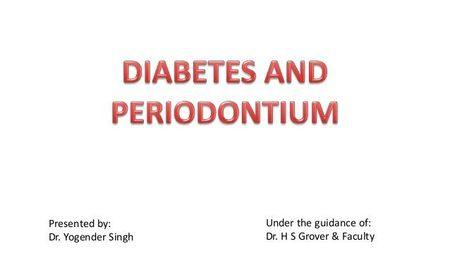 Diabetes And Periodontal Disease Slideshare