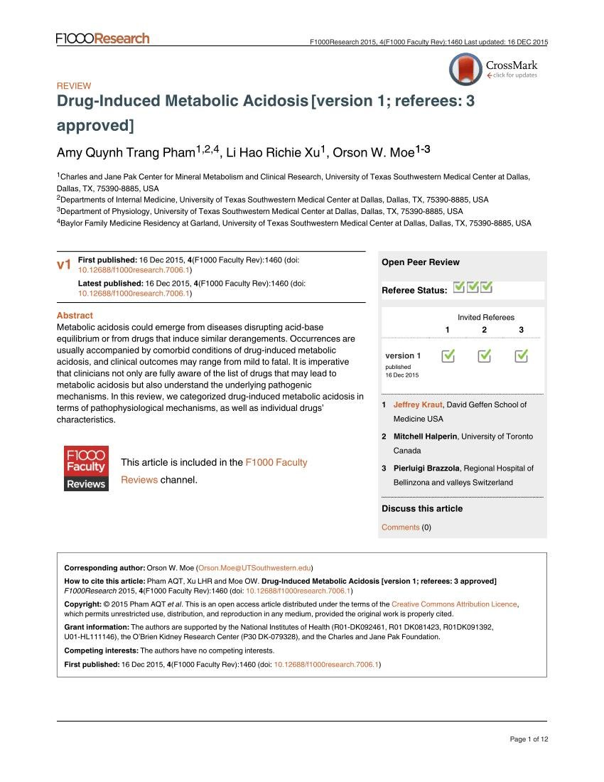 (pdf) Drug-induced Metabolic Acidosis