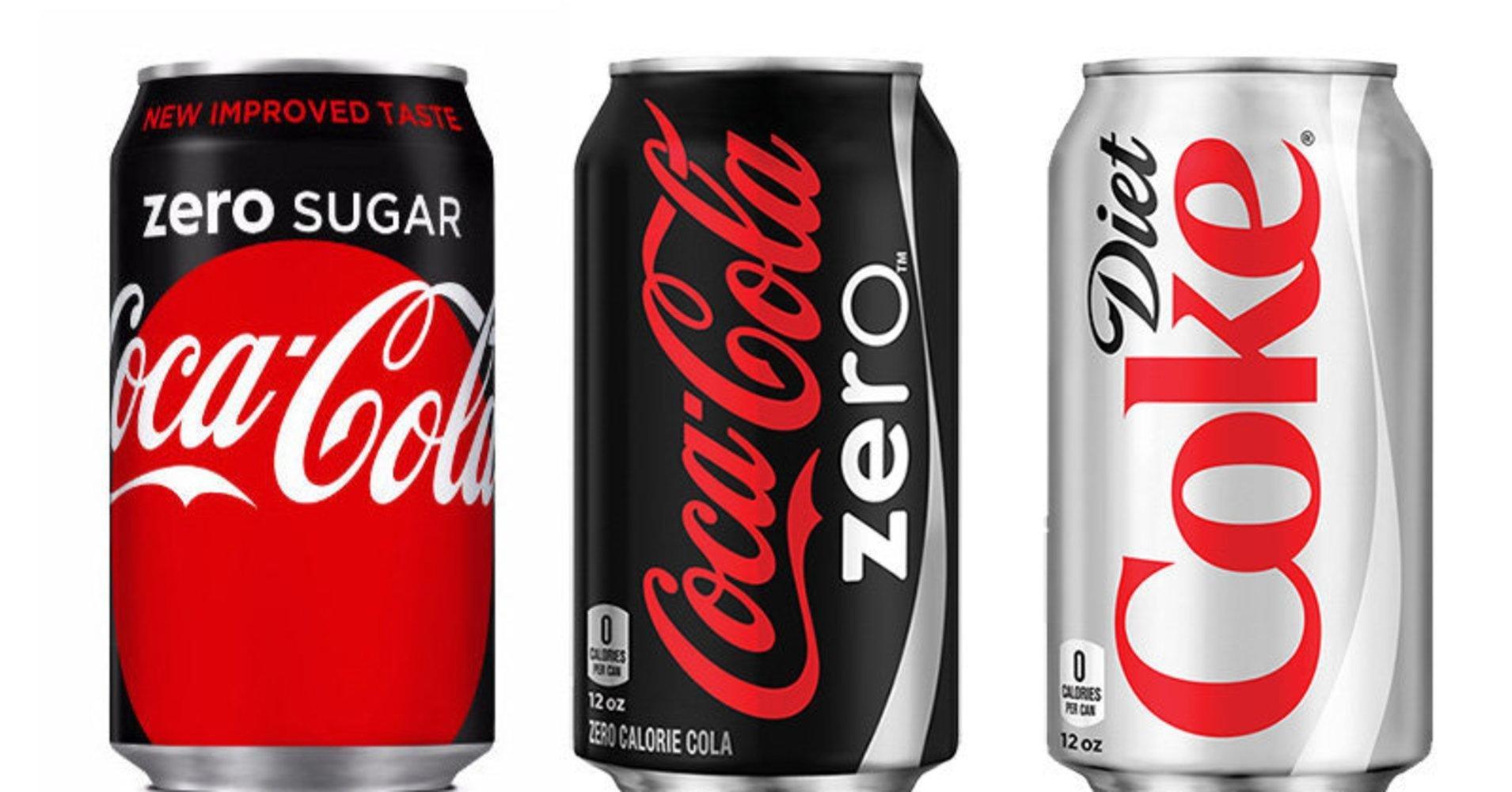 Here's The Difference Between Diet Coke, Coke Zero And Coke Zero Sugar