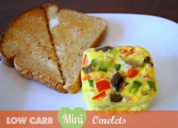 Low-carbohydrate Mini Omelets