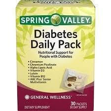 Spring Valley Diabetes Daily Pack Reviews – Does Spring Valley Diabetes Daily Pack Work?