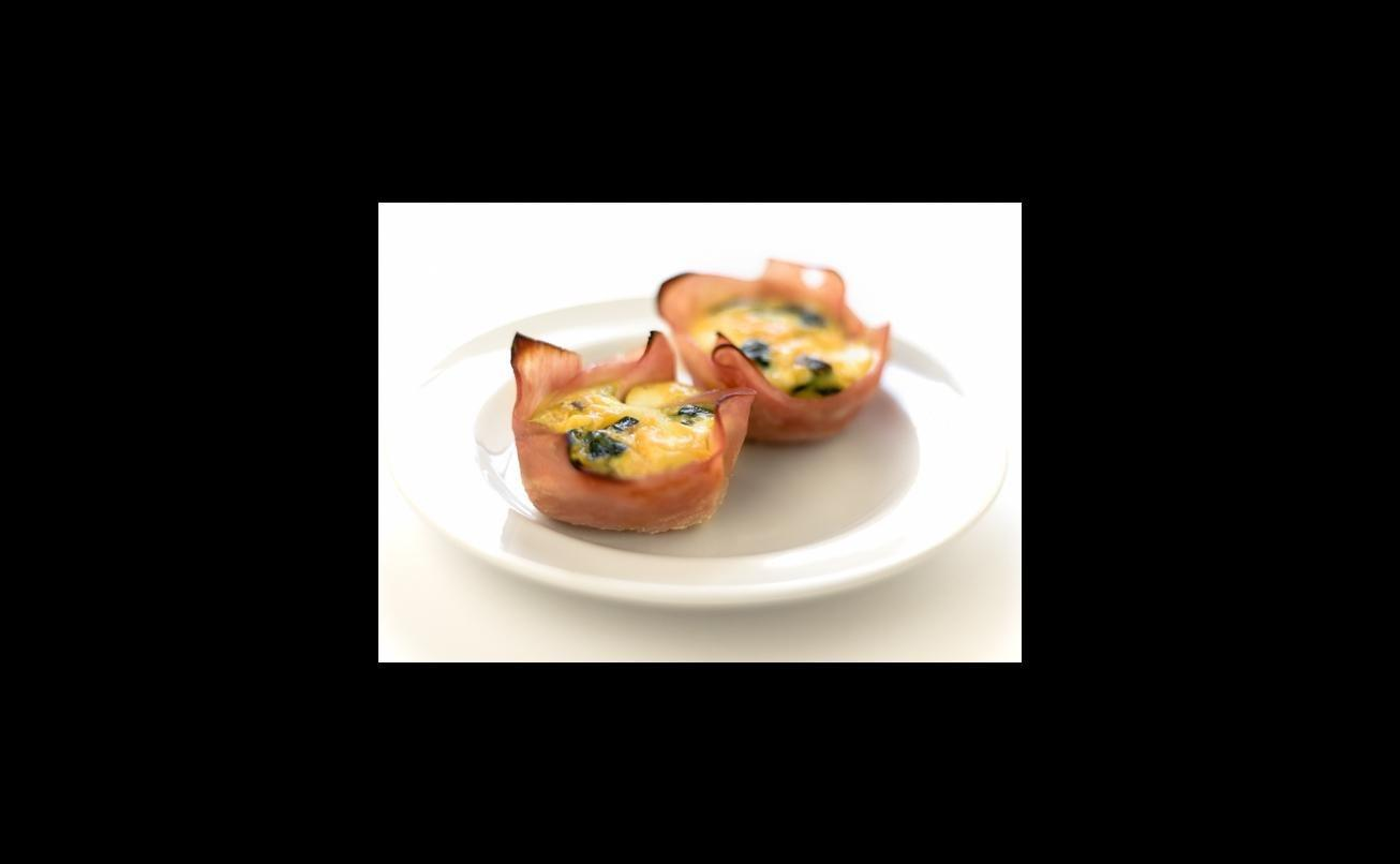 Spinach Mushroom Egg And Ham Cups