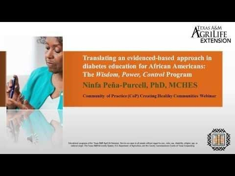 The Effect Of A Diabetes Self-management Program For African Americans In A Faith-based Setting (pilot Study)