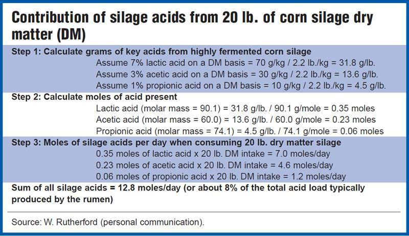 Silage Acids Play Minor Role In Ruminal Acidosis