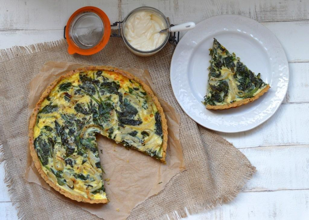 Spinach And Onion Quiche (gluten Free, Dairy Free)