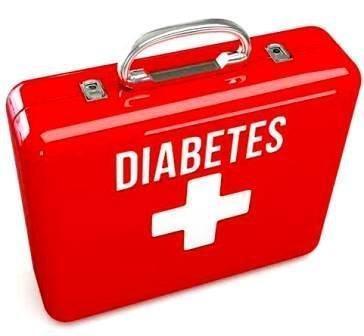 Diabetes Awareness Ribbon As A Support For Diabetics