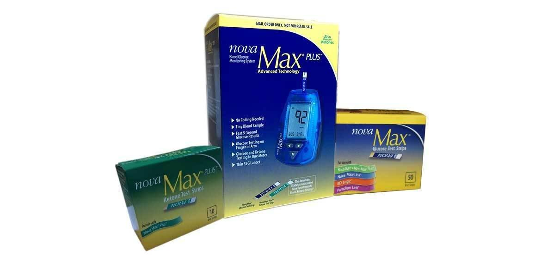 Nova Max Plus: Blood Glucose & Ketone Testing All In One