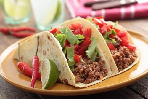 Healthy Tacos With Ground Beef, Turkey, And Veggies