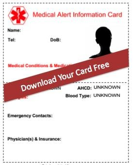 8 Reasons Why You Need A Free Medical Alert Card