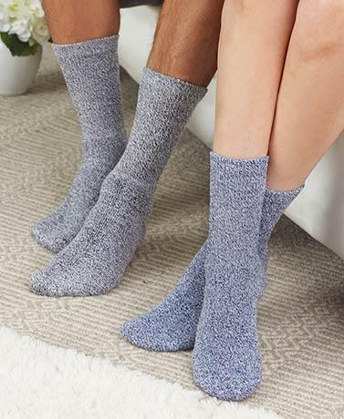 7-pair Marled Diabetic Socks For Men Or Women