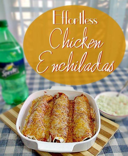 Effortless Chicken Enchiladas