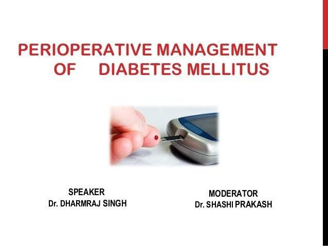 Perioperative Diabetes mellitus management