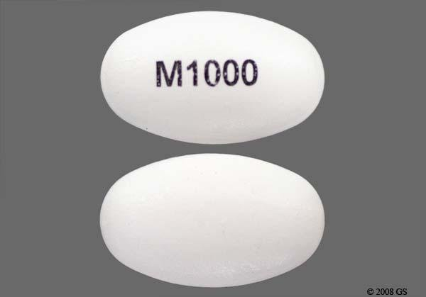Metformin Er 1000 Mg Tablet (osmotic)