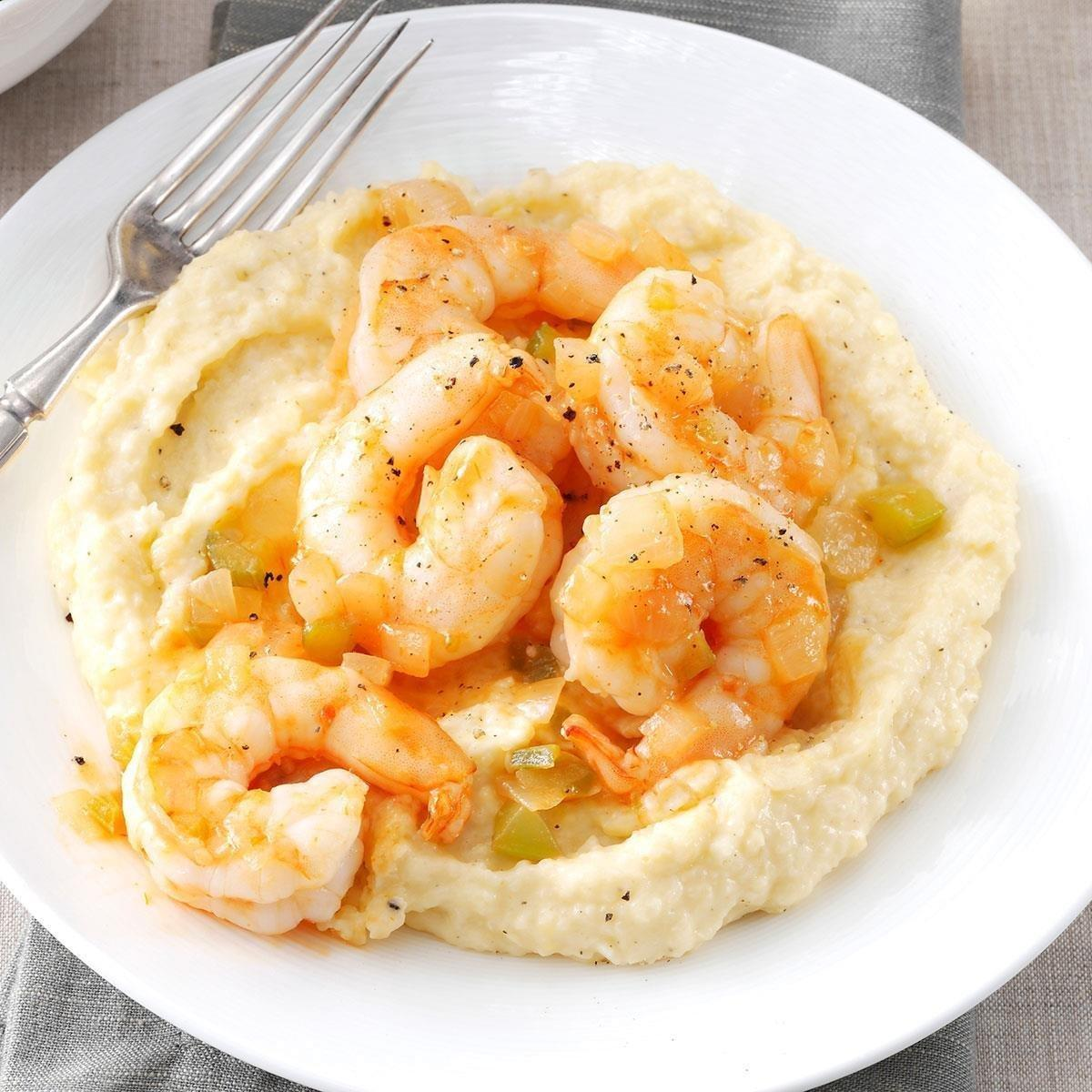 Shrimp And Grits Recipe   Taste Of Home