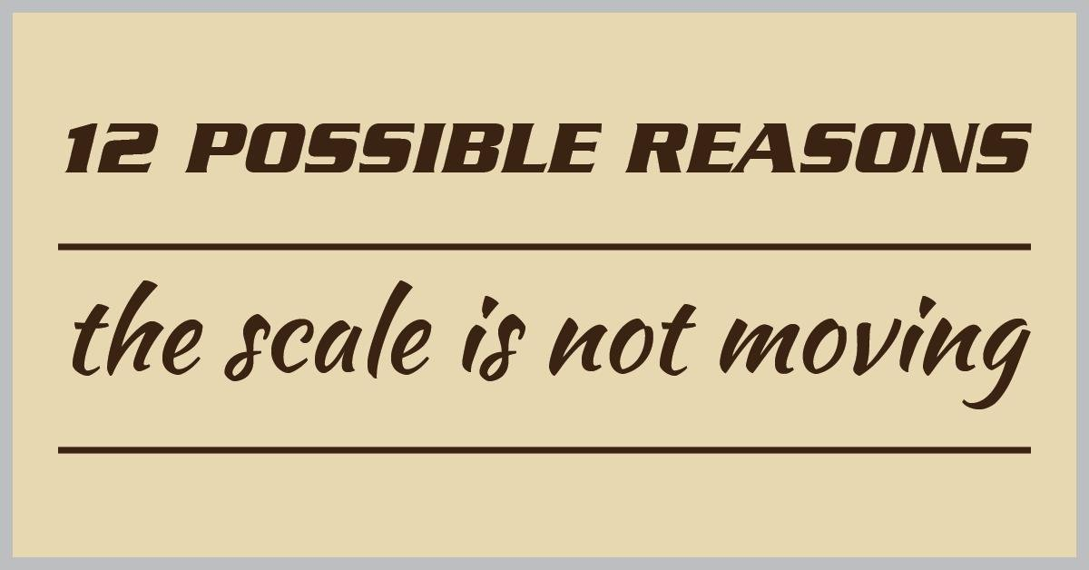 12 Possible Reasons The Scale Is Not Moving