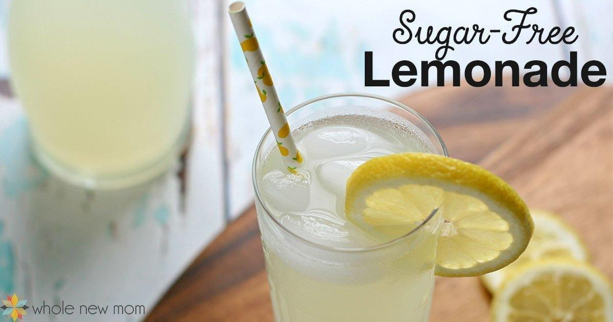 Sugar-free Lemonade Recipe | Homemade Lemonade | Whole New Mom