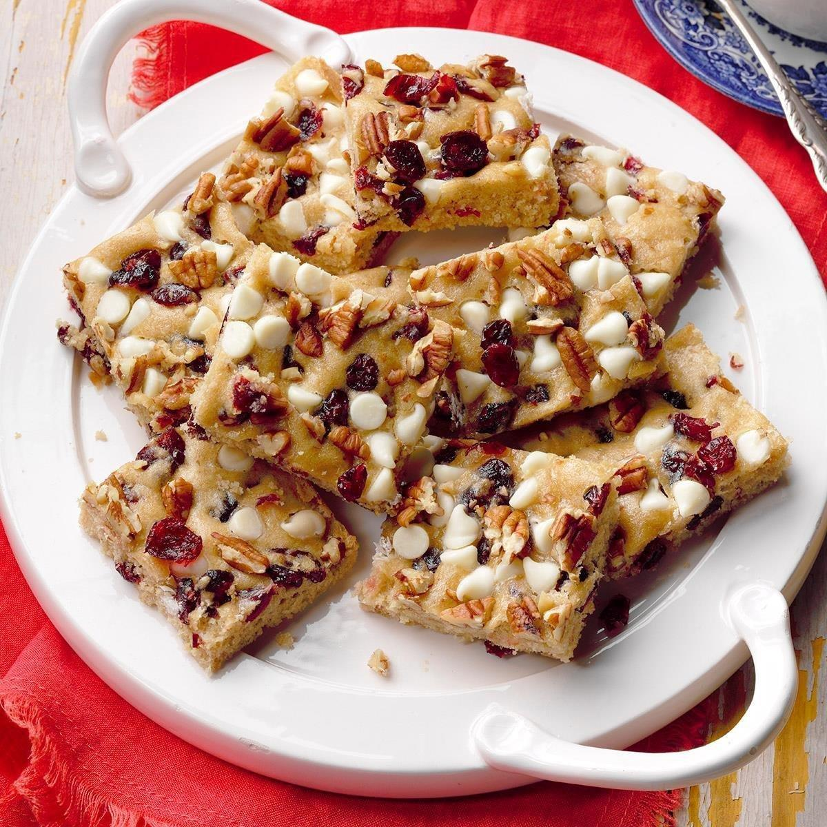 White Chip Cranberry Blondies Recipe