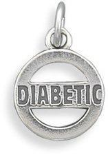 Diabetic Charm 925 Sterling Silver