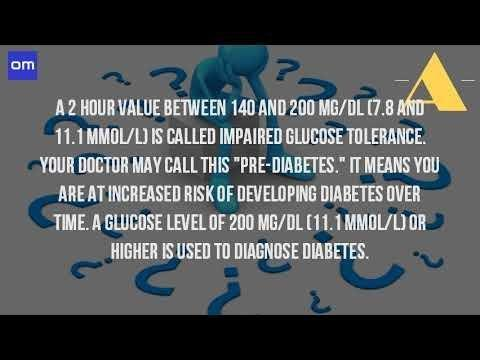 Conversion Of Blood Sugar Level Mmol/l To Mg/dl
