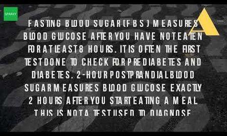 fasting blood glucose test