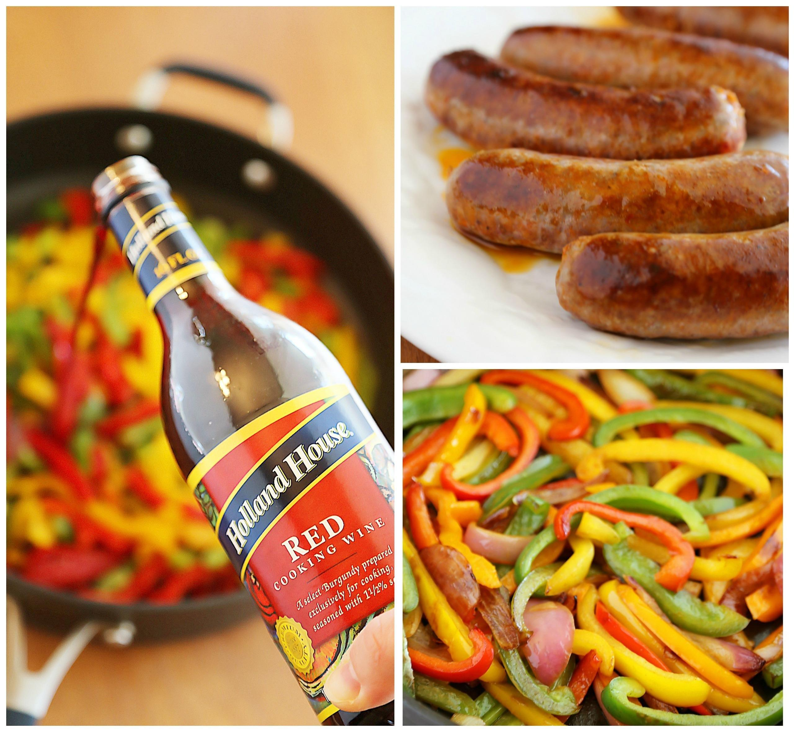Skillet Italian Sausage, Peppers And Onions