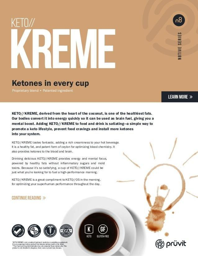 Keto Kreme Product Sheet | Pruvit